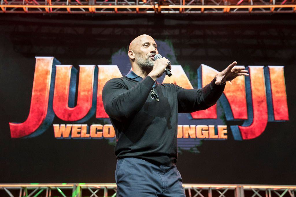 "Dwayne ""The Rock"" Johnson on stage"