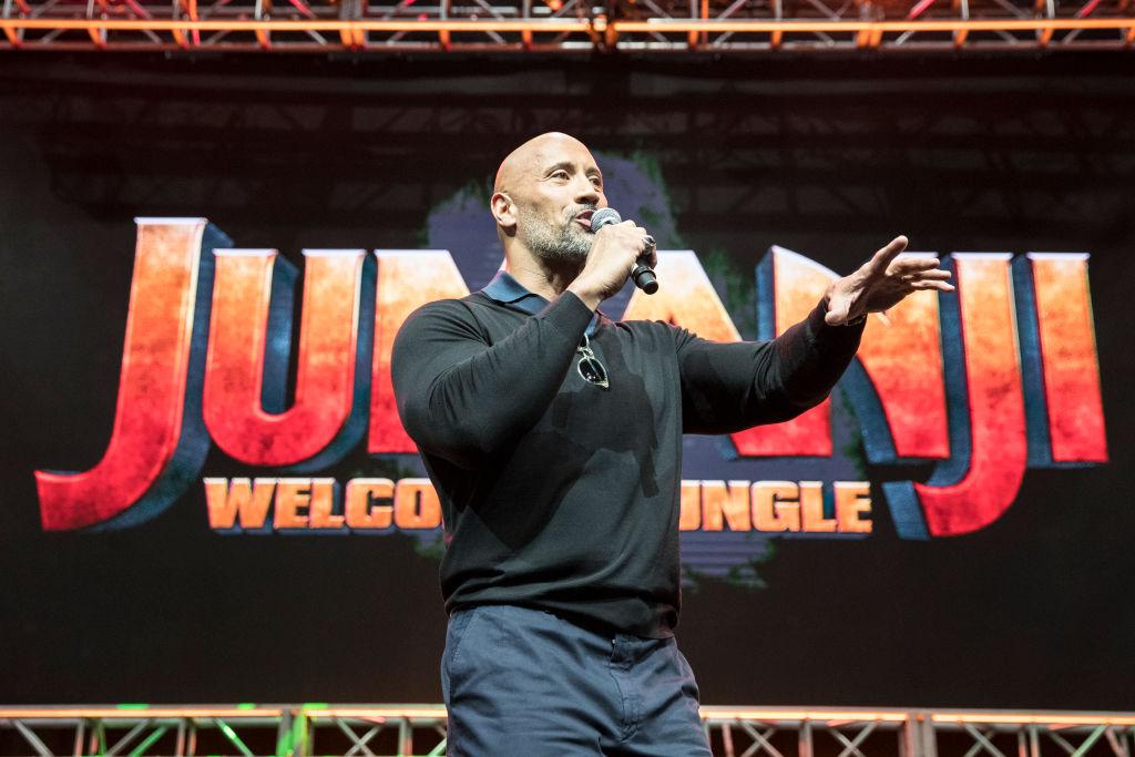 "Dwayne ""The Rock"" Johnson on stage"