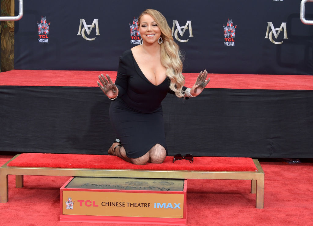 Mariah Carey is honored with a Hand and Footprint Ceremony at TCL Chinese Theatre on November 1, 2017 in Hollywood, California.