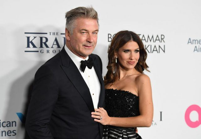 Alec Baldwin and Hilaria Baldwin attend the Elton John AIDS Foundation Commemorates Its 25th Year And Honors Founder Sir Elton John During New York Fall Gala at Cathedral of St. John the Divine on November 7, 2017 in New York City.