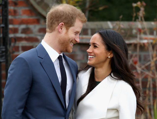 Prince Harry and Meghan Markle during an official photocall to announce the engagement.