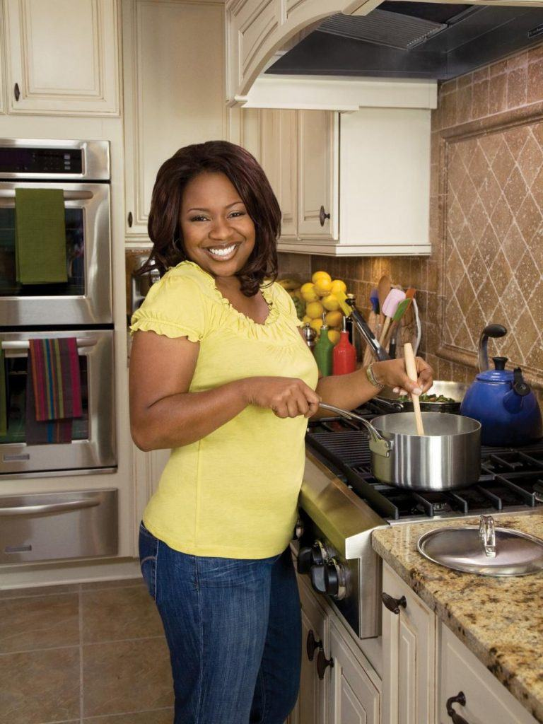 Gina Neely on the set of her former show, Down Home With the Neelys