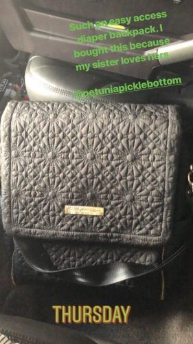 Heidi Pratt's stylish diaper backpack