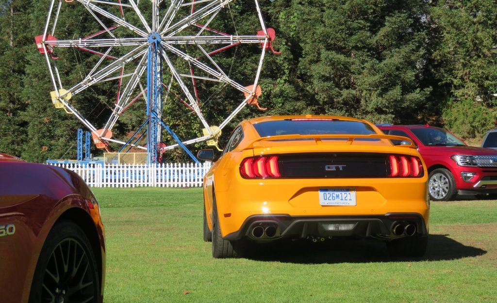 Orange Fury Mustang GT for 2018