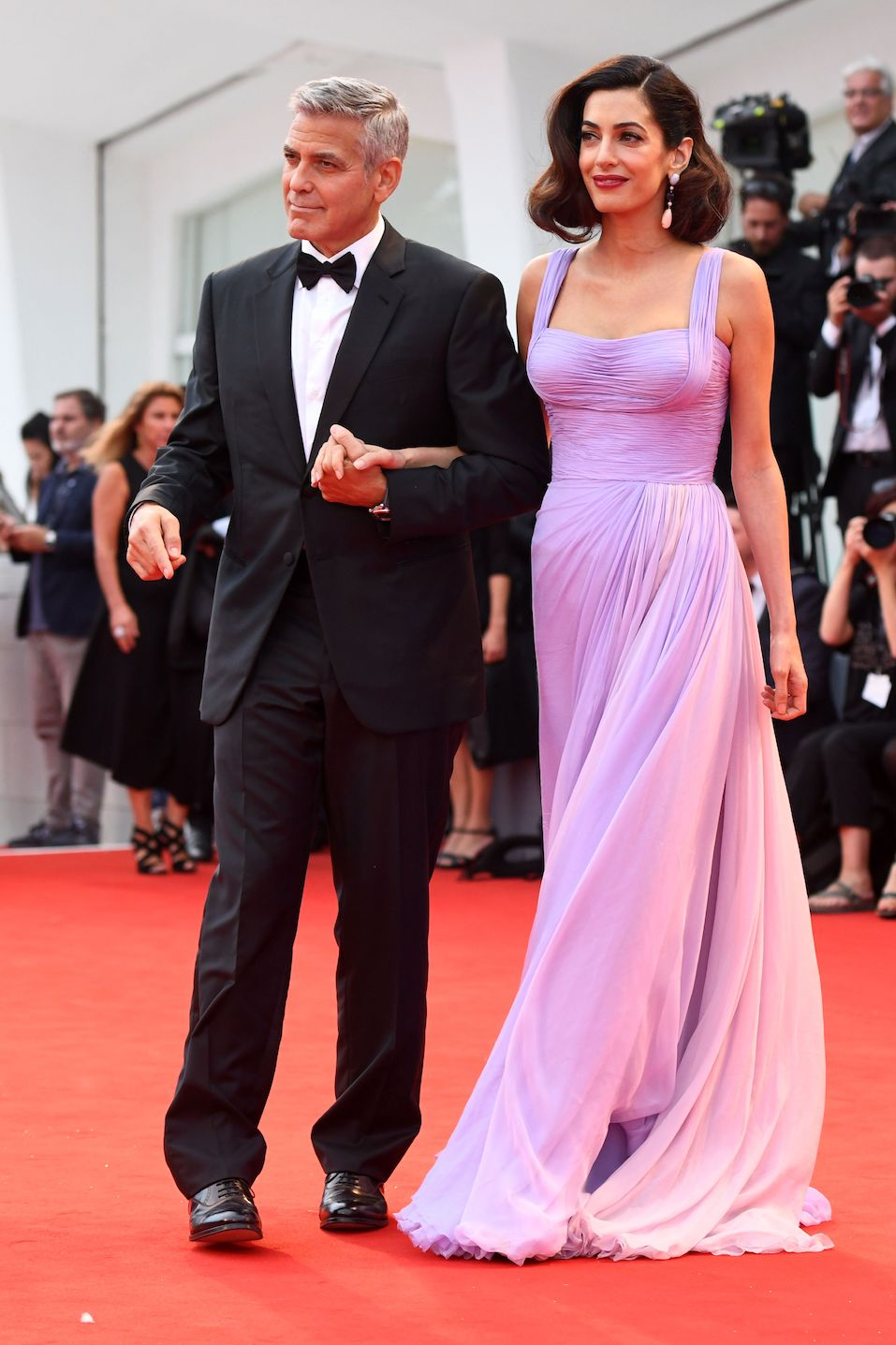 """George Clooney and his wife Amal attend the premiere of the movie """"Suburbicon"""""""