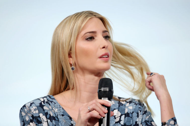 Ivanka Trump flipping her hair