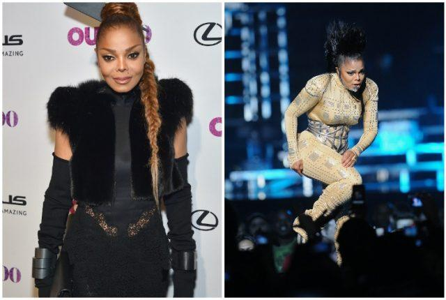Janet Jackson weight loss and gain collage.