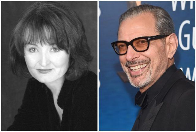 Photo collage featuring Patricia Gaul and Jeff Goldblum.