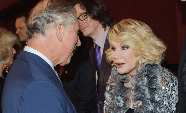 Prince Charles speaking to Joan Rivers.
