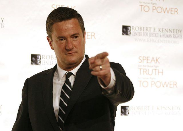 Joe Scarborough pointing his index finger.