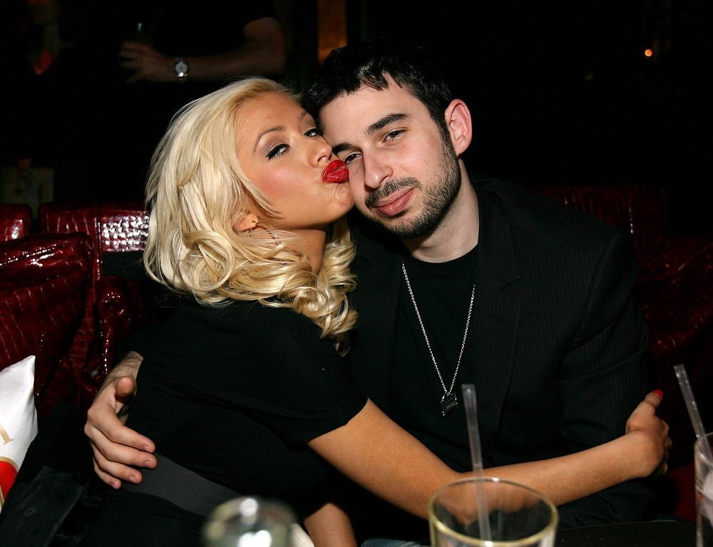 Jordan Bratman (right) and singer Christina Aguilera