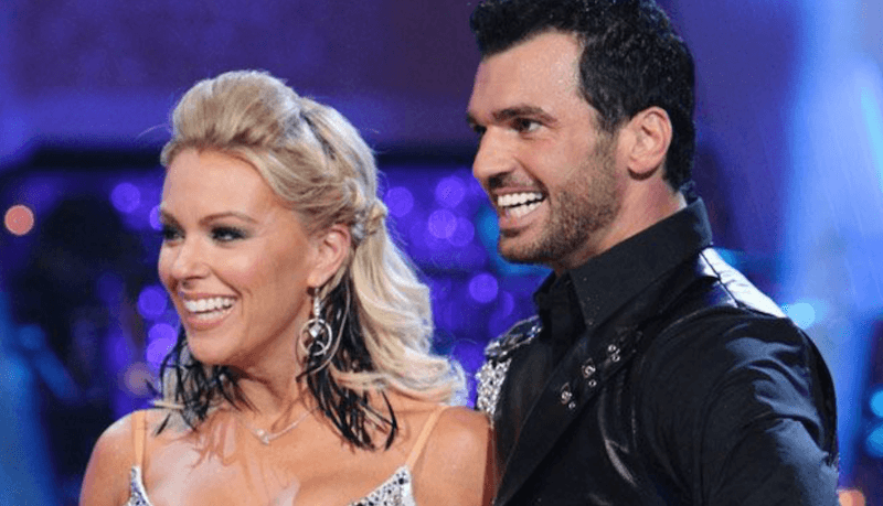 Kate Gosselin and Tony Dovolani receive feedback on their performance.