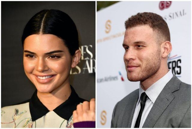 A collage featuring Kendall Jenner and Blake Griffin.