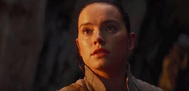 Rey speaks to Luke