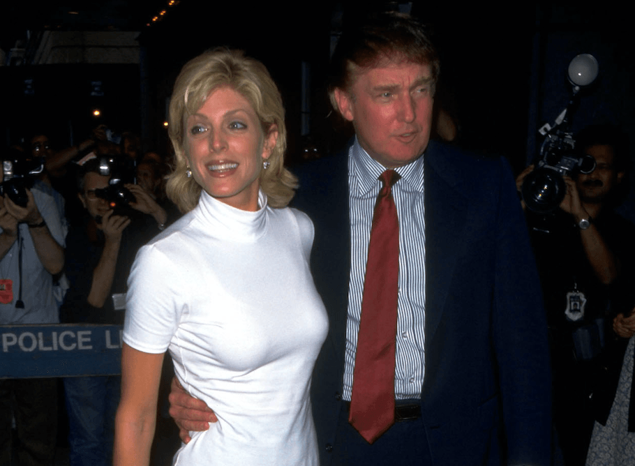 Marla Maples and Donald Trump