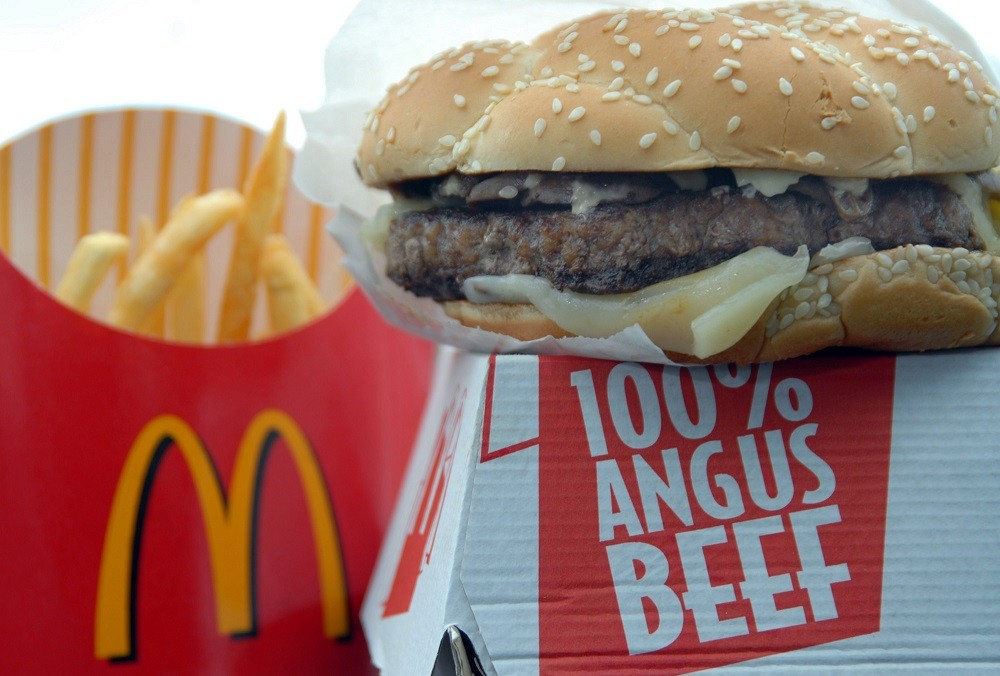 McDonalds' Angus burger
