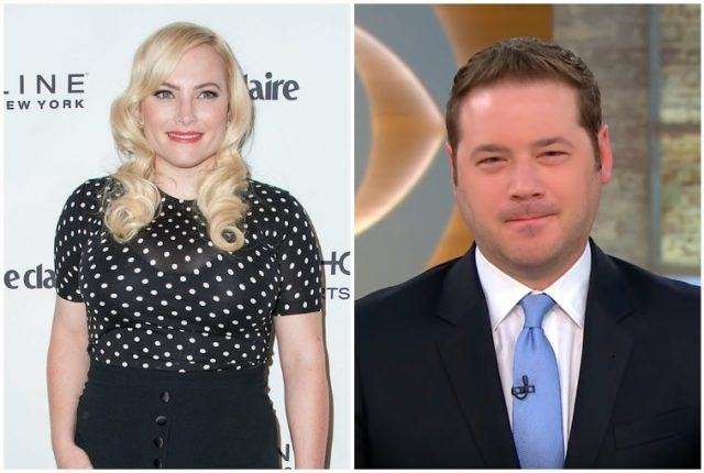 A collage featuring Meghan McCain and Ben Domenech.