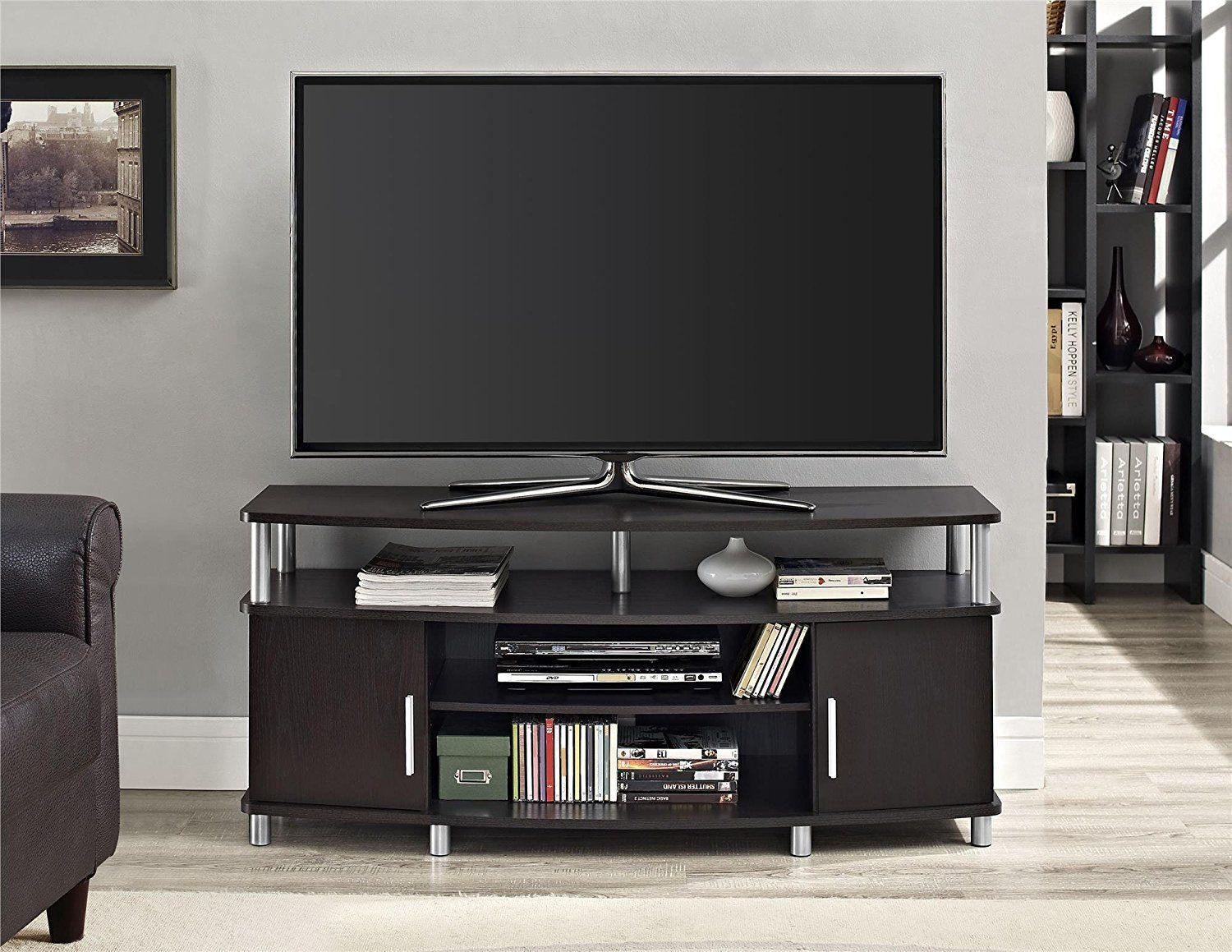 TV on TV stand