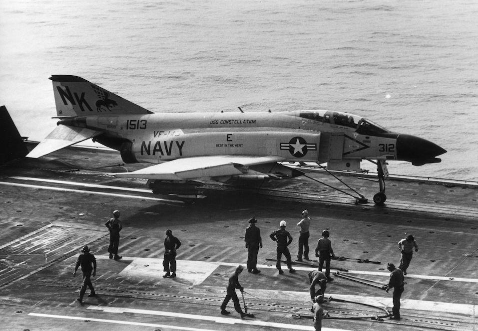 A McDonnell, Phantom Jet ready for take off