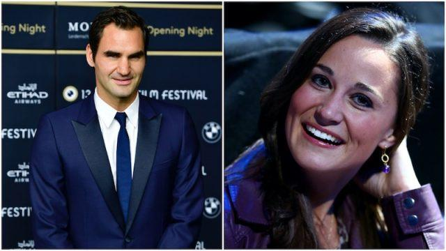 Pippa Middleton and Roger Federer collage.