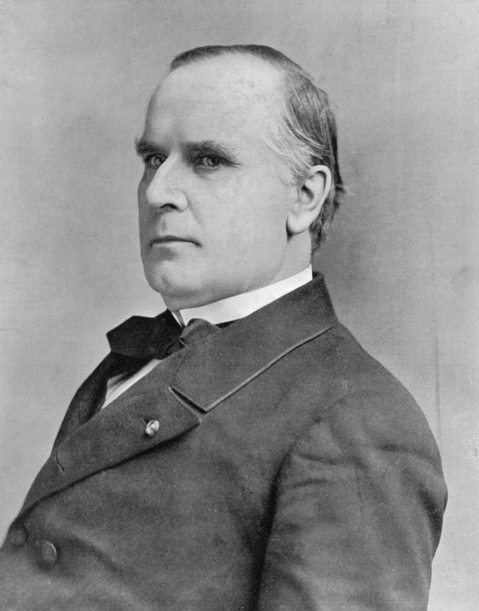 Portrait of American president William McKinley