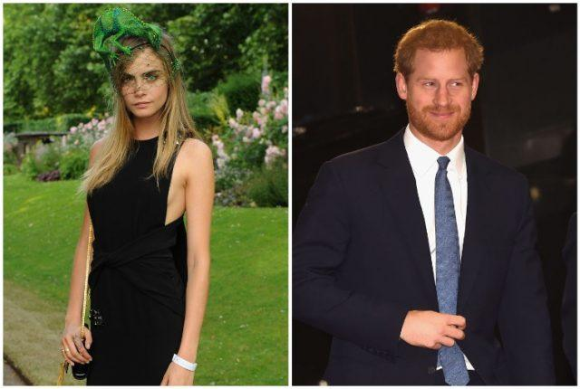 Collage featuring Cara Delevigne and Prince Harry.