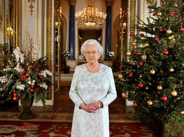 Queen Elizabeth II's 2012 Christmas Broadcast At Buckingham Palace