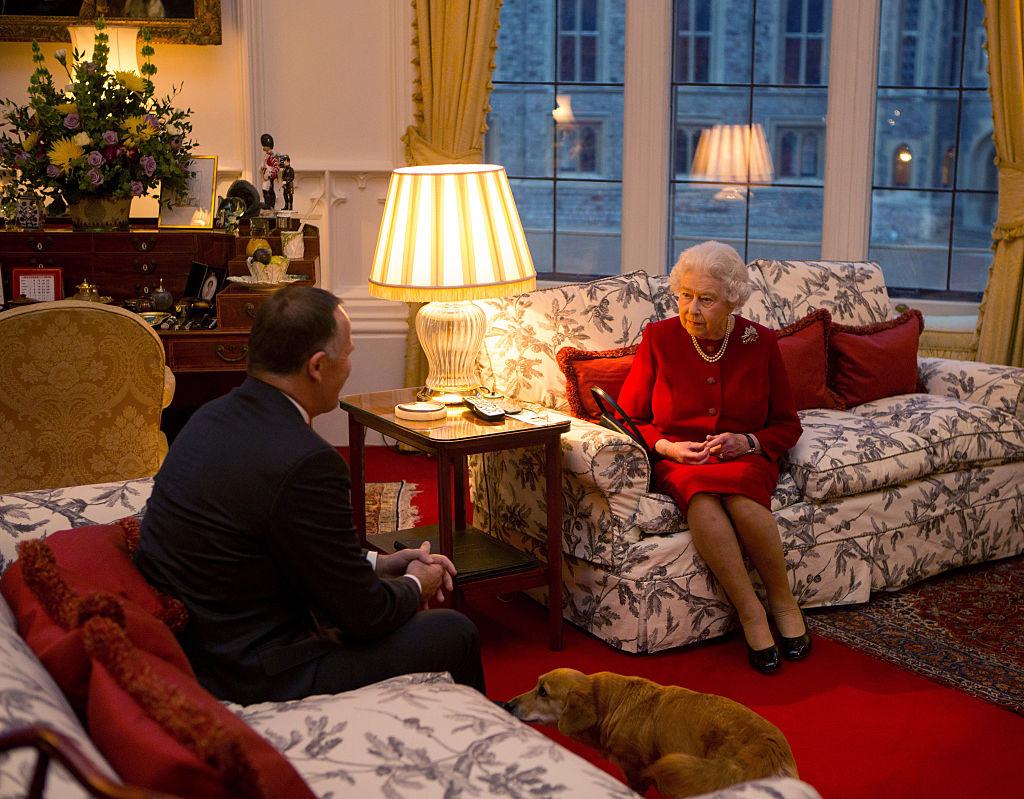 Queen Elizabeth Meets Prime Minister of New Zealand John Key At Windsor Castle