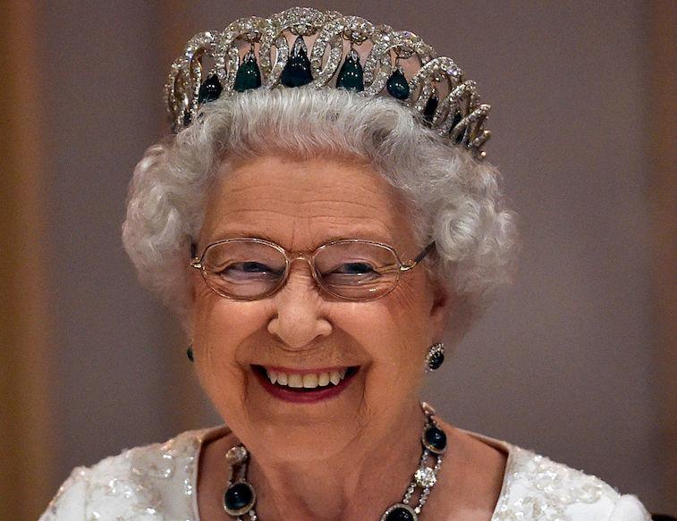 Queen wearing a tiara