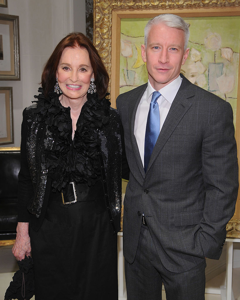 "Gloria Vanderbilt and Anderson Cooper attend the launch party for ""The World Of Gloria Vanderbilt"""