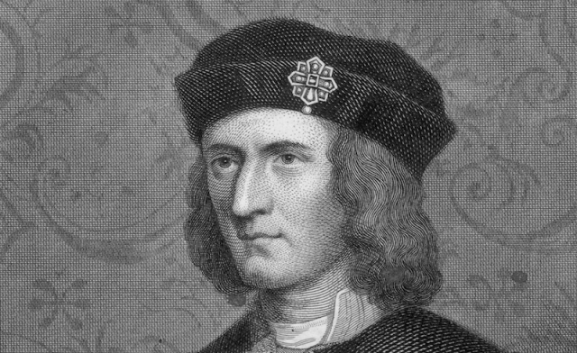 Richard III illustrated in black and white.
