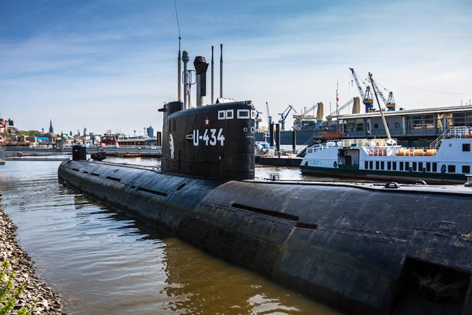 Russian submarine in Hamburg