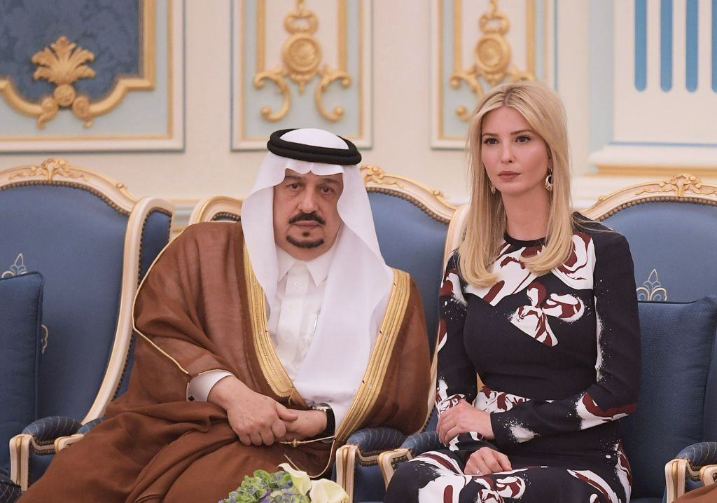 Ivanka Trump sits next to Prince Faisal bin Bandar, the governor of the Saudi capital Riyadh