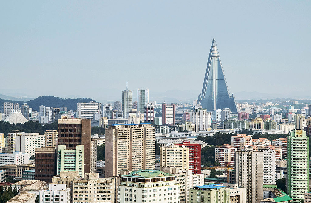 The capital city of Pyongyang