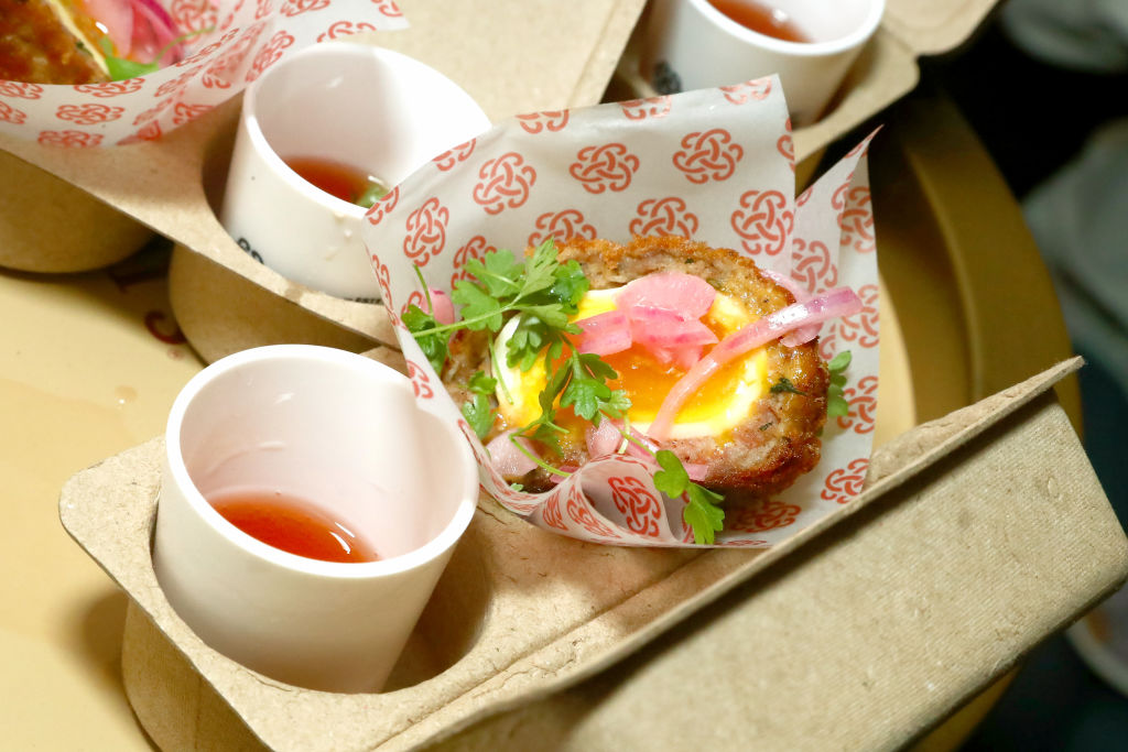Scotch Eggs served during Street Eats in New York City.