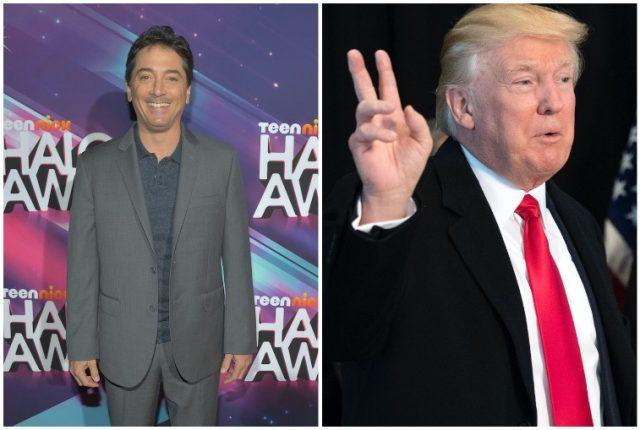 Collage featuring Scott Baio and Donald Trump