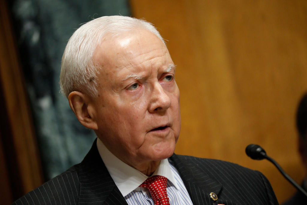 Sen. Orrin Hatch (R-UT) speaks at a tax reform hearing before the Senate Finance Committee
