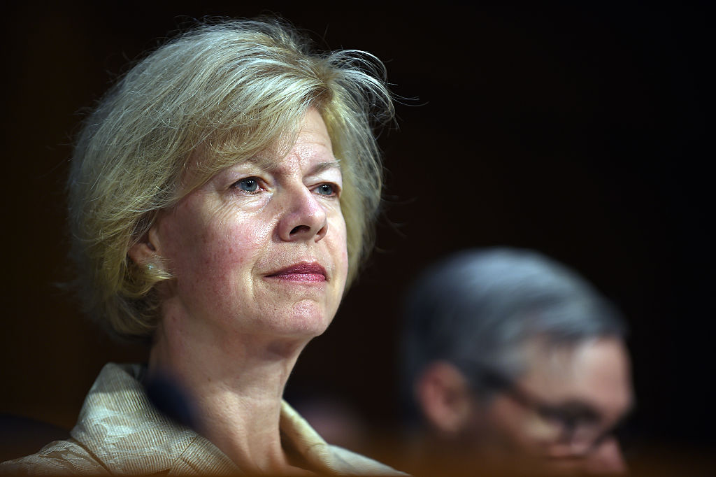 Senator Tammy Baldwin (D-WI) listens during a hearing of the Senate Health, Education, Labor, and Pensions Committee