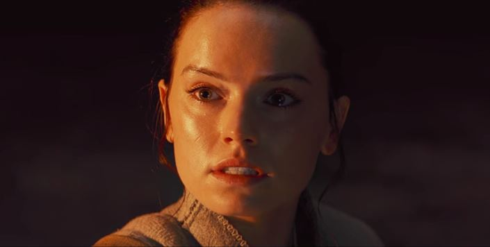 Rey in The Last Jedi