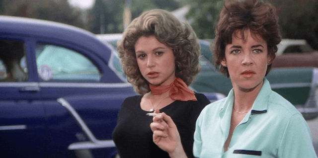 Stockard Channing and Dinah Manoff in 'Grease'.