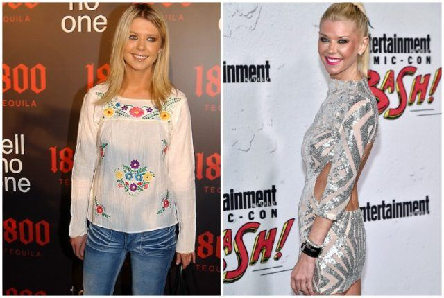 Tara Reid weight loss collage.