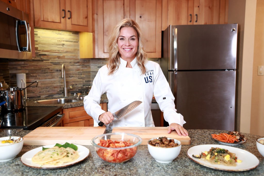 Chef Cat Cora cooks up some traditional Korean dishes
