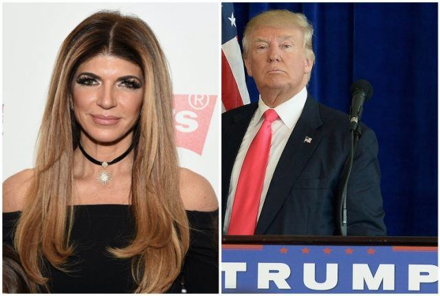 Collage featuring Teresa Giudice and Donald Trump.