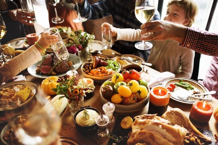 People celebrating Thanksgiving