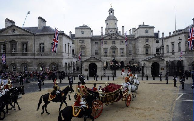 The royal wedding and horse carriage.