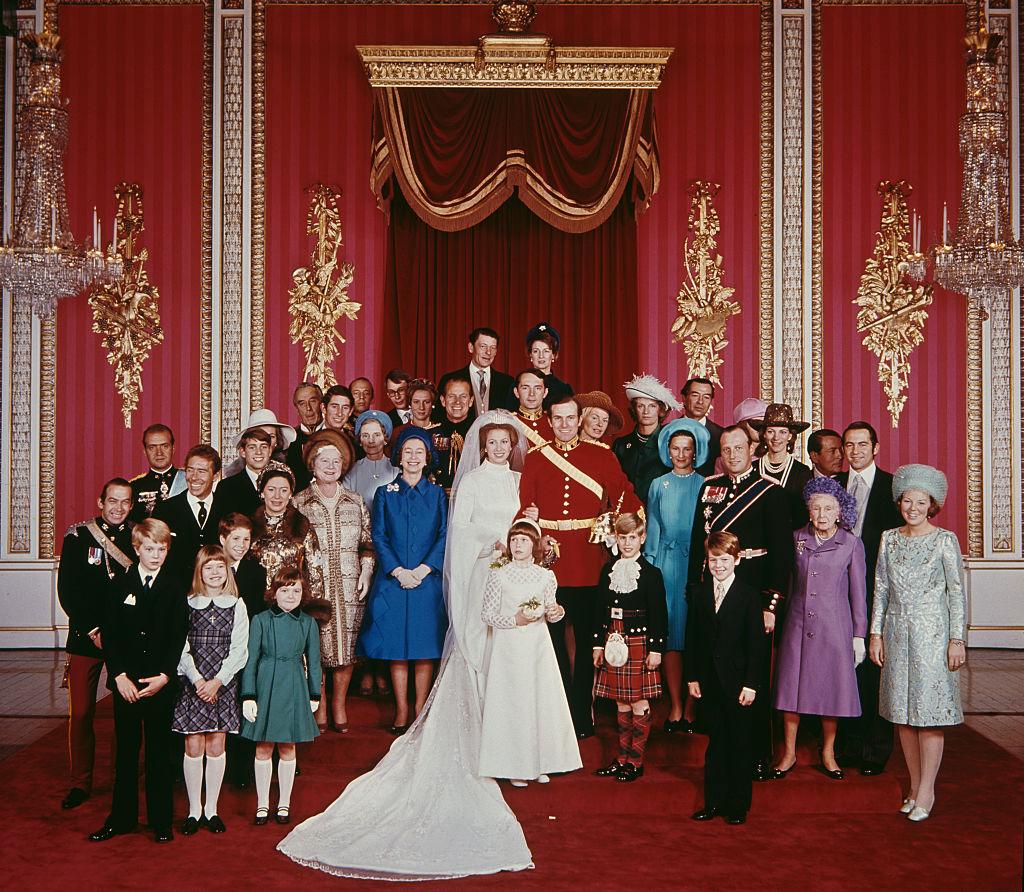The wedding of Anne, Princess Royal to Mark Phillips, London, UK, 14th November 1973