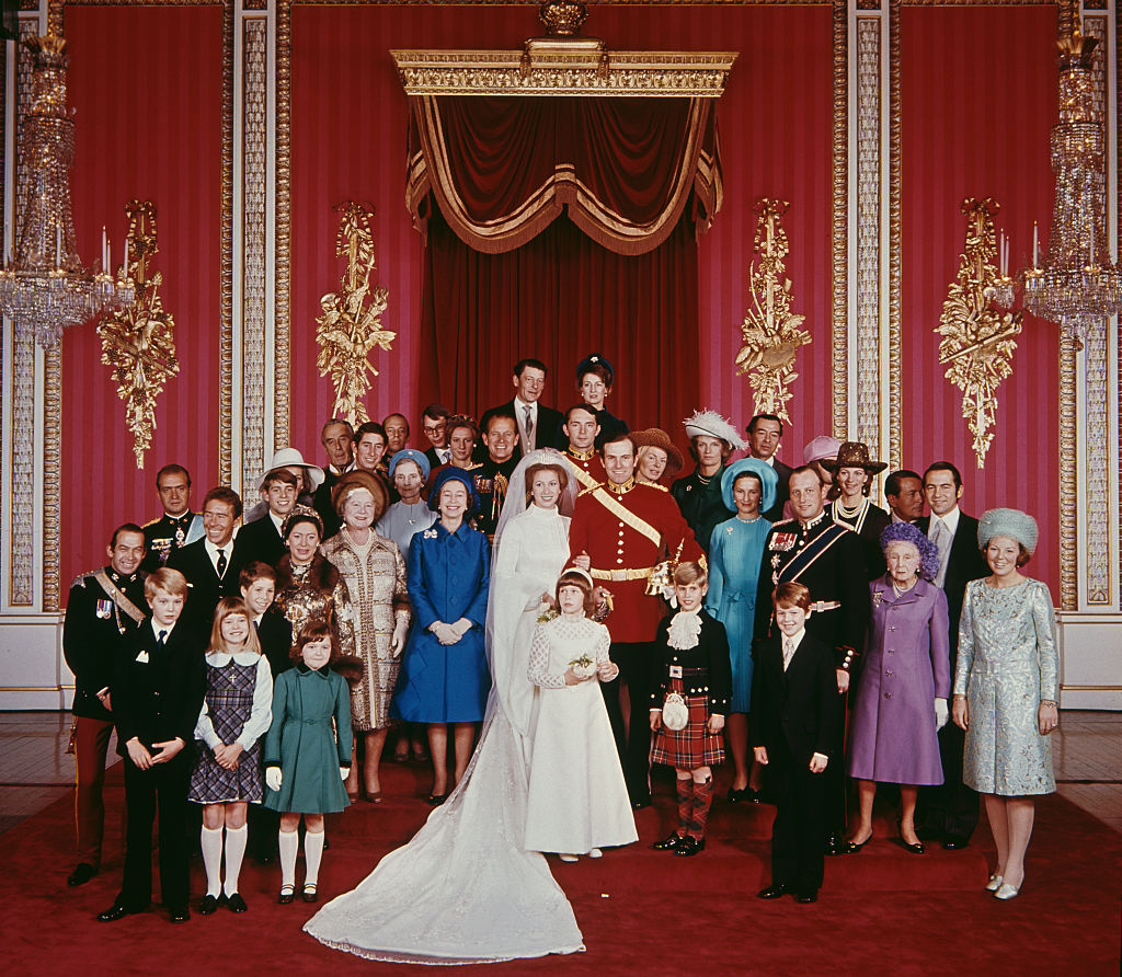 The wedding of Anne, Princess Royal to Mark Phillips, London, UK, 14th November 1973