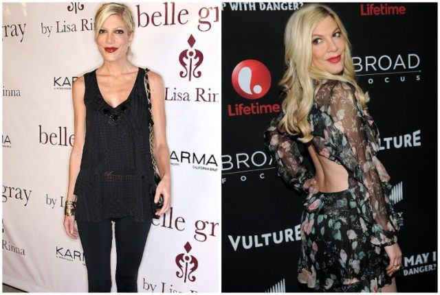 Tori Spelling weight loss comparison.