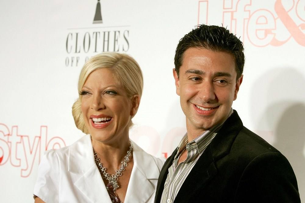 Actress Tori Spelling and her husband Charlie Shanian