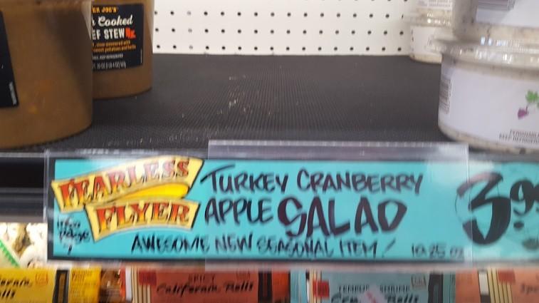 Turkey Cranberry Apple Salad at Trader Joe's